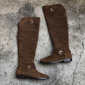 RALPH LAUREN unused Jeanette Oiled Suede Boots 10B